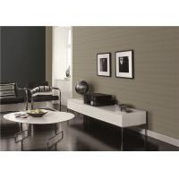 Non Pasted Faux Grasscloth Wallpaper / TV Background Wet Embossing Wallpaper Manufactures
