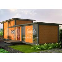 China Wood Appearance Modern Prefab Homes With Loft Environmental Protection Material on sale