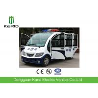 China Eco Friendly Design Enclosed Cabin Battery Powered White Color Electric Sightseeing Bus With 8seats For Resort on sale
