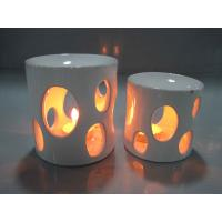 White Arabian Household Ceramics Porcelain Oil Burner With Candle 8.5 X 8.5 X 10.5 Cm Manufactures