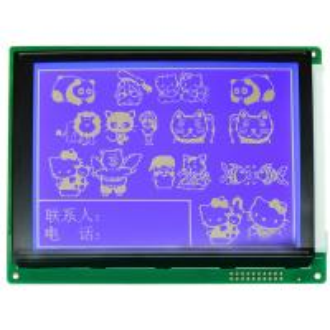 Dot Matrix Type Graphic LCD Module COB Bonding Mode For Communication Equipment Manufactures