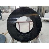 China Black Nero Marquina round table countertops marble table tops SGS Certification on sale