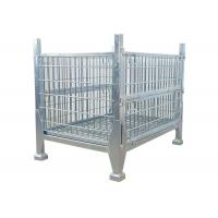 Collapsible Rigid Steel Metal Pallet Box Stackable Wire Mesh Storage Cage Manufactures
