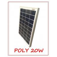 Good quality glass with anti-reflective coating 20W polycrystalline PV solar panel Manufactures