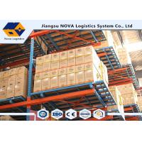 Cold Rolled Steel Adjustable Pallet Racking , Heavy Duty Rack Shelf With Long Life Span Manufactures
