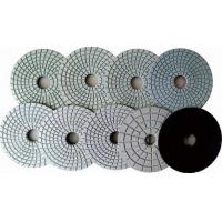 Quartz Countertop  Ceramic Wet Concrete Hand Polishing Pads Grey Black Flexible Manufactures