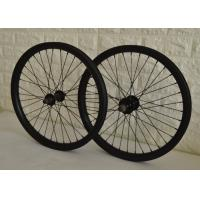 Light Weight 20 Inch Carbon BMX Wheels Standard Schrader / Presta Valve Manufactures