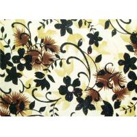 Beautiful Floral Flocked Fabric , Mattress / Toy / Clothes Fabrics Manufactures