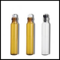 3ML 5ML 10ML Glass Cosmetic Bottles Screw Cap With Stainless Steel Roller Balls Manufactures
