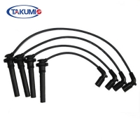 China High Voltage Spark Plug Cables Set , Mazda Silicone Spark Plug Leads 100% Tested on sale