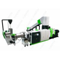 Washed Plastic Recycling Granulator Machine , PP PE Plastic Film Recycling Machine Manufactures