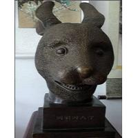 Quality bronze antique imitation craft Rabbit's Head for sale