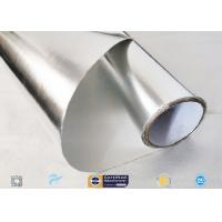 Moisture Resistant Aluminium Foil Silver Coated Fabric 300℃ Industry Using Manufactures