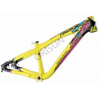 Quality Slope Freestyle Dirt Jump Bike Frame Yellow Color Trail / Am Riding Style for sale