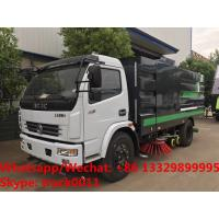 2019s HOT SALE! new best price Dongfeng 120hp diesel road washing sweeper truck street washing and sweeping vehicle for sale
