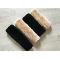 Australia Wool Luxury Sheepskin Seat Belt Cover Universal Type For Protecting Shoulders Manufactures