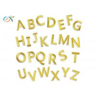 China Gold A - Z Alphabet Letters Embroidered Letter Appliques DIY Merrow Border on sale