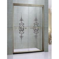 Customized Green Bronze Sliding Glass Shower Doors Printed in Stainless Steel Profiles Manufactures
