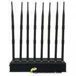 8 Antennas 20W Desktop Mobile Phone Signal Jammer Blocker Block GSM 3G 4G LTE Wifi GPS Lojack VHF UHF 24 Hours Working Manufactures