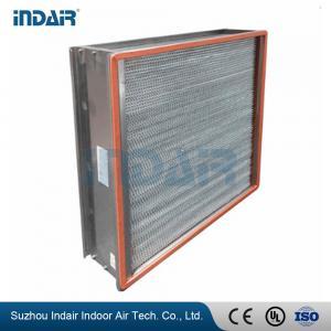 H13 Heat-Resistant Clean Room HEPA Filters , HEPA Air Filter 450Pa Final Pressure Drop