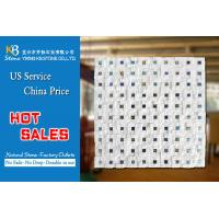 Crystal white marble mosaic floor tile marble mosaic tile sheets Manufactures