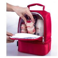 Red Childrens Lunch Bags /  Insulated Lunch Bags For Kids Doube Layers Manufactures