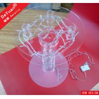 Round Acrylic Cake Stand Holders 2 Tier Lighted For Birthday Party Manufactures