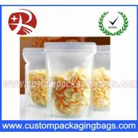 Matte Transparent Plastic Food Packaging Bags With Stand Up For Snacks Packing