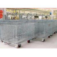 Zinc - coated Wire Mesh Cages ,  Workshop Pallet Metal Front Drop Gate Manufactures