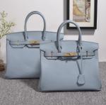 high quality 35cm women light blue Togo leather handbags fashion brand handbags designer handbag H-Y37 Manufactures