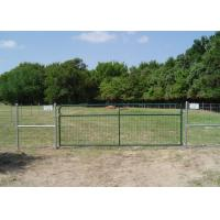 Quality Anti Crrosion Steel Field Gates , Welded Wire Mesh Steel Farm Fence Gate for sale