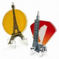 100mm Acrylic Display/Miniature with Laser-cut and CMYK Printing Manufactures