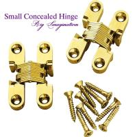 Quality cupboard small concealed hinge SOSS Invisible Hinge Jewelry Box Hinge for sale