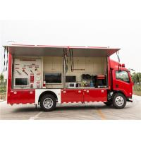 Red Color Commercial Fire Trucks 3D Animation Simulate 119 Alarm Software Manufactures