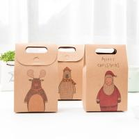 High-Quality Christmas Stocking Candy Kraft Gift Packaging Small Brown Paper Bags Manufactures