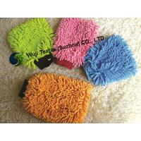 China Machine Washable Chenille Wash Mitt , Easy Dusting Microfibre Super Mitt on sale