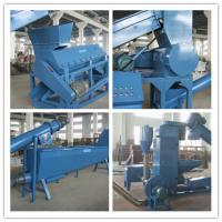 Commercial Heavy Duty Washing Machine Electric Used To Recycle Waste PET Bottles Manufactures
