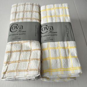 China Textiles Stocklot Satin Kitchen Tea Towels on sale