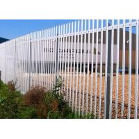 Hot Dip Galvanized Steel Palisade Fencing Heat Treated Pressure Treated Wood Type Manufactures