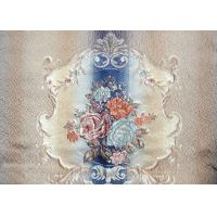 Knitted Embroidered Shower Curtain / Embroidered Silk Fabric OEM Manufactures