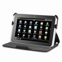 Leather Case for HTC Flyer, with Adjustable Angle and Stages for Kickstand Manufactures