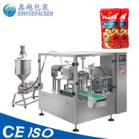 Automatic Liquid Pouch Packing Machine , Ketchup Packaging Machine Compact Design Manufactures