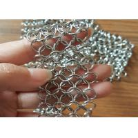 316 Stainless Steel Chainmail Ring Mesh Use Water Features , Shower Curtains Manufactures