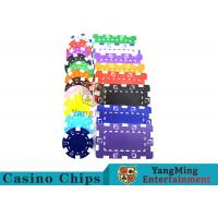 American Custom Made Casino Poker Chips With Dice 3.3mm Thickness Manufactures