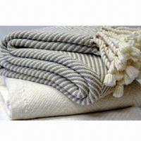 Herringbone throws, made of acrylic Manufactures
