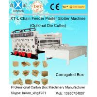 Pneumatic Locking Automatic Lubrication Carton Printing Slotting Machine With Gear Pumps Manufactures