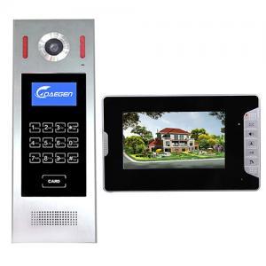 Black Door Video Intercom Home Security System Home Wires Video doorphone Black Door Monitoring System for building Manufactures