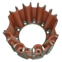 Spider hub eight blades/ribs wheel hub trailer parts ductile iron casting sand mould casting Manufactures