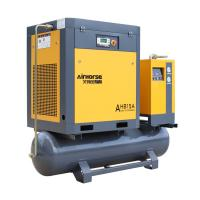 China 7.5kw 10HP Integrated mounted screw air compressor with Tank and Dryer for sale on sale