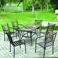 7pc Mosaic Table Set/Ceramic Table and Chair Set, Featuring Good Sales Service Manufactures